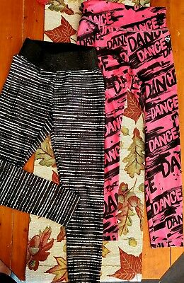 2 Justice Dance or Active Leggings Size 8