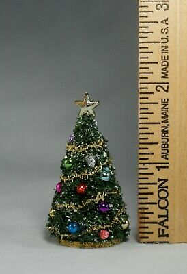 "Dollhouse Miniature 1:24 CHRISTMAS TREE  /<4/"" tall 1//2/"" scale handcrafted village"