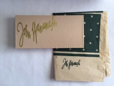 Vintage John Wanamaker Department Store Empty Gift Box & Plastic Shopping Bag
