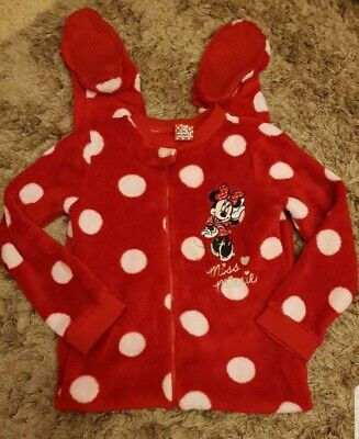 Girls Pyjamas (all in one) Mini Mouse 6-7 Years VGC