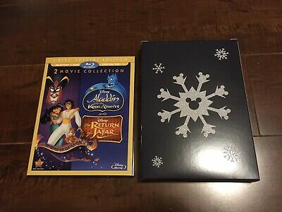 Authentic New Sealed Aladdin 2 & 3 (Return of Jafar & King of Thieves) Blu-ray