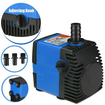 2000 L/H Adjustable Submersible Hydroponics Fountain Pond Aquarium Water Pump