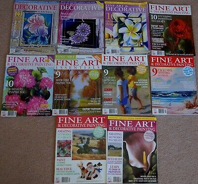 Fine Art & Decorative Painting Magazines With Patterns