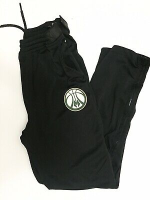 Milwaukee Bucks Zipway Tear Away Pants Size Small NBA Official Licensed Apparel