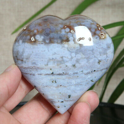 B683-186g Natural Colorful RARE Polished Ocean Jasper Crystal heart