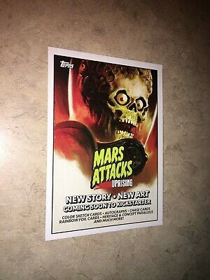 Mars Attacks UpRising NYCC 2019 promo card Topps