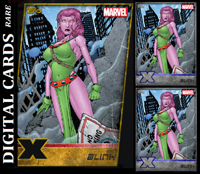 Topps Marvel Collect Card Trader X-Men Weekly Blink Gold Die Cut+ 2 Silver