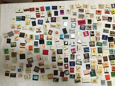 Over 250 Vintage Match boxes and Match Books. Collectable