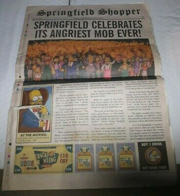 Springfield Shopper - July 22, 2007 - The Simpsons Movie Promotional Liftout
