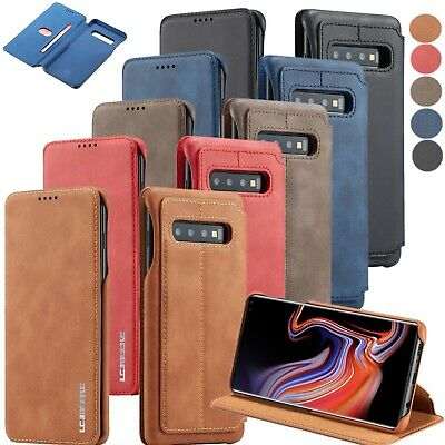 Ultrathin Premium Leather Slim Fit Magnetic Case Cover For Samsung Galaxy Phones