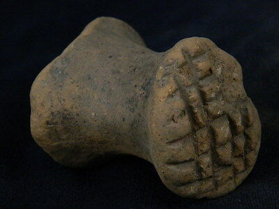 Ancient Teracotta 2 Sided Seal Indus Valley 2000 BC #TR609