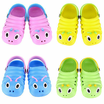 Toddler Kid Boys Girls Slip On Flat Jelly Shoes Beach Casual Sandals Clog Summer