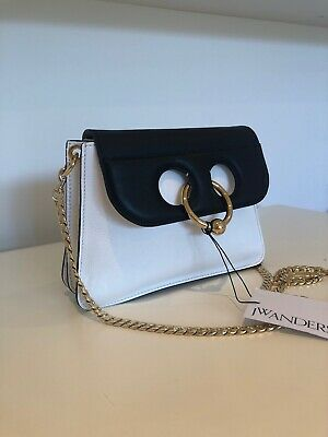BRAND NEW WITH TAGS | JW Anderson Black / White Mini Pierce Bag