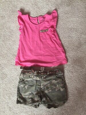 Next Girls Outfit Top Aged 3-4 Shorts Aged 5