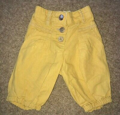 Baby Girls Cropped Trousers 6-9 Months From Next Adjustable Waist