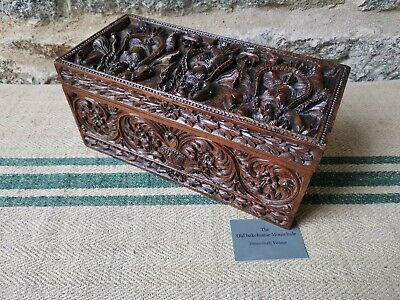 A Stunning 19th Century Carved Indian Box