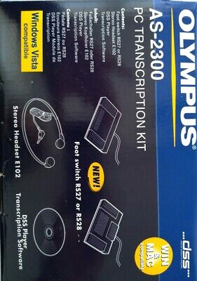 Olympus AS-2300 PC Transcription Kit Neu Originalverpackt