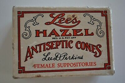 Vintage Suppositories Empty Box Quack Medicine Lee's Hazel Antiseptic Cones
