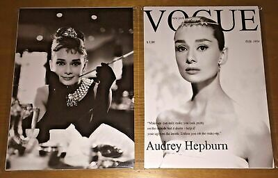 NEW Audrey Hepburn Poster Prints x3 Breakfast at Tiffany's & Vogue Cover Chanel