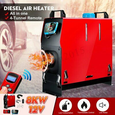 NEWEST 5KW 12V Diesel Air Heater LCD Remote Silencer Thermostat Trucks Boats UK