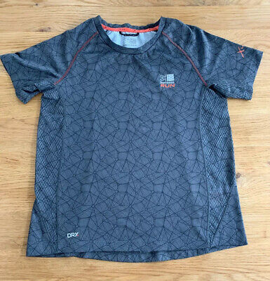 Karrimor Run Boys Xlite Top Age 9 *Grey With Shorts Sleeves Good Condition*