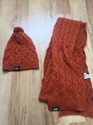 UGG winter set hat and scarf with silk