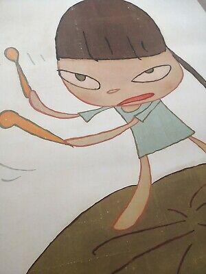 Yoshitomo Nara Marching On A Butterbur Leaf print Un Signed Edition Of 1000