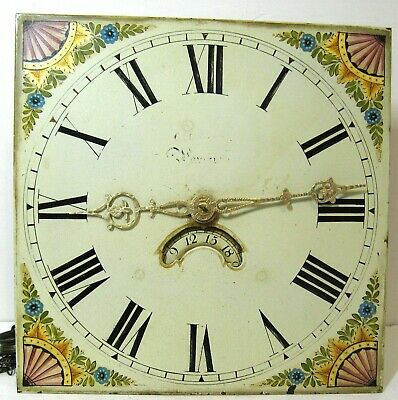 Attractive Longcase Dial & Movement  - Court of Warwick.