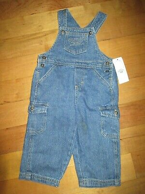 Toddler Boys girls Calvin Klein 18 Months Overalls Jean Cotton NWT