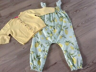 ( N8) Next Girls Small Pretty Bundle / Outfit 12-18Mths Jumpsuit Cardigan