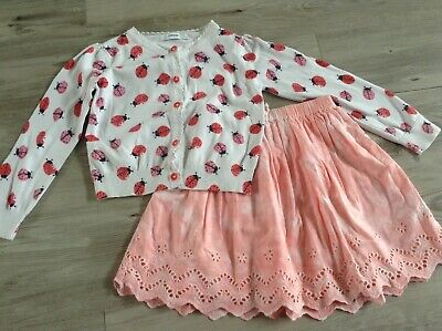 (6) Next  George  Girls  Small Bundle / Outfit 5-6Yrs Cardigan Skirt