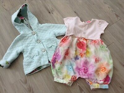 (6)  Ted Baker Baby Girls Small Designer Bundle/Outfit Age 3-6Mths Playsuit Jkt