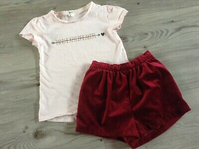 (C3) Next River Island Girls Small Pretty Bundle / Outfit 4-5Yrs Top Shorts