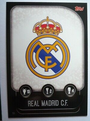 Topps Match Attax 2019/20 Real Madrid Team Badge Card Comb P&P