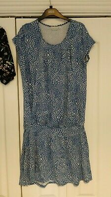 JoJo Maman Bebe Size M Maternity and Nursing dress, blue and white