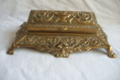 Late 19th Century Victorian Cast Brass 5 Conpartment Stamp Box.