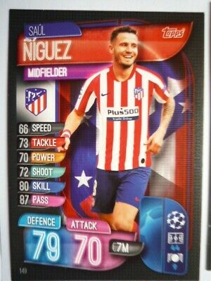 Topps Match Attax 2019/20 Athletico Madrid Niguez Card Comb P&P
