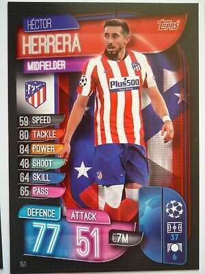 Topps Match Attax 2019/20 Athletico Madrid Herriera Card Comb P&P