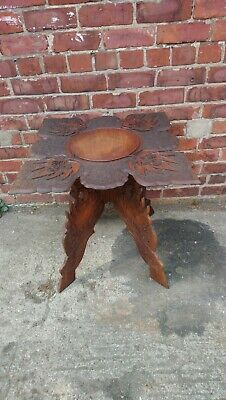 Vintage  Carved Folding Mahogany Side Table, Occasional Table, Coffee Table.