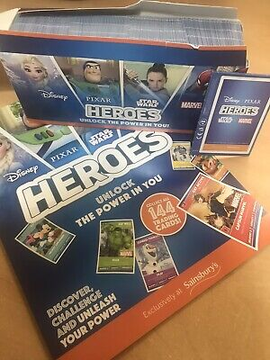 SAINSBURY'S HEROES 2019 COLLECTORS ALBUM ***BRAND NEW*** + 720 cards - 180 Packs