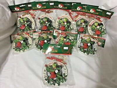 "10 Kurt S Adler (Santa's World) Christmas Frog Lover's Ornament (3.75"" X 3.5"")"