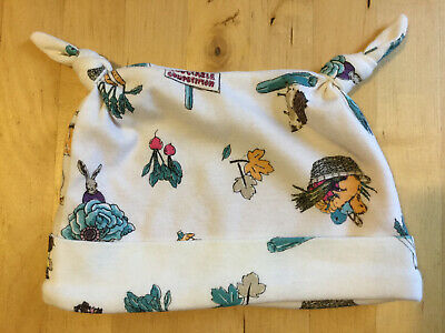 Joules baby lined beanie hat 6-9 months autumn leaves rabbit squirrel harvest