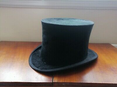 Antique 1900'SSilk Top Hat & Leather