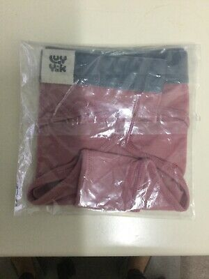 """Lingerie Lucy and Yak Women's Knickers Small """"Ivy"""" Bamboo Brief . Ash Pink."""
