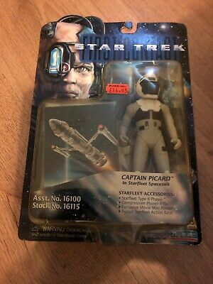 Star Trek first contact captain Picard in Starfleet spacesuits action figure