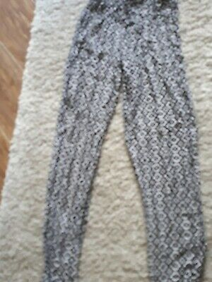 Girls Black And White Harlem Pants Trousers Age 10-11 Years
