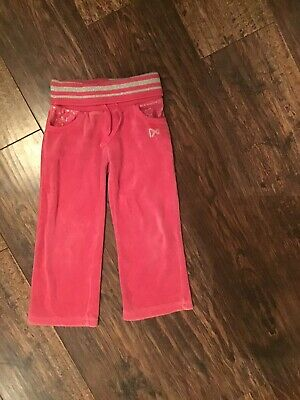 NEXT  girls pink velour joggers 4yrs casual trousers