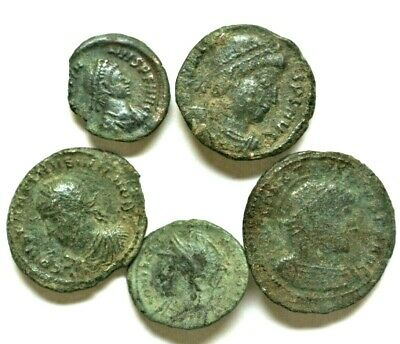 LOT OF FIVE ANCIENT ROMAN COINS  Roman: Imperial (27 BC-476 AD)L5