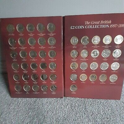 Complete 1997-2019 Album 51 £2 Two Pound Coins Commonwealth Games jane austin