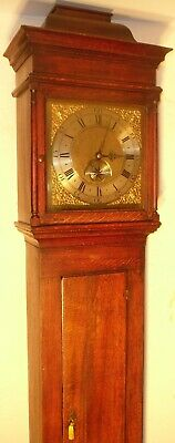 "Antique Oak  Brass  Dial "" Wolverton ""   Longcase / Grandfather Clock"